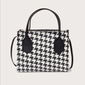 Handbags - Houndstooth Satchel Bag